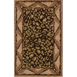 """Link to Agra Oushak Traditional Hand Made Oriental Floral Area Rug - 7'10"""" x 4'11"""" Similar Items in Transitional Rugs"""