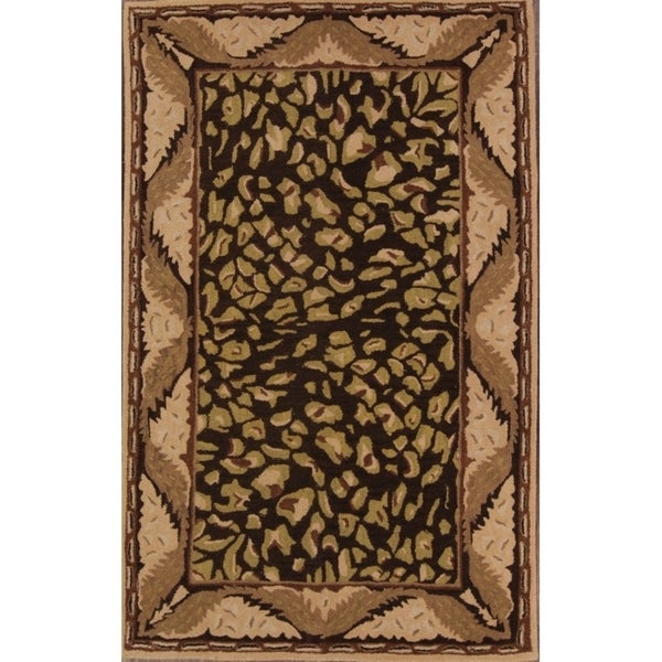 """Agra Oushak Traditional Hand Made Oriental Floral Area Rug - 7'10"""" x 4'11"""""""