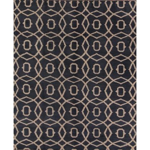 "Hand Made Moroccan Oriental Trellis Gabbeh Oriental Area Rug Carpet - 9'8"" x 8'3"""