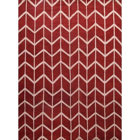 """Moroccan Traditional Classical Oriental Hand Made Area Rug Wool Red - 10'0"""" x 13'7"""""""