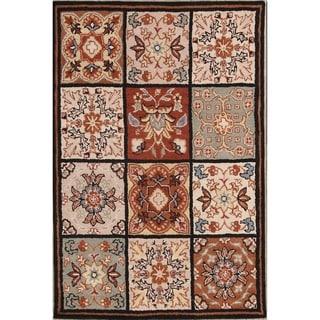 "Oushak Agra Handmade Indian Oriental Floral Area Rug - 4'0"" x 6'0"""
