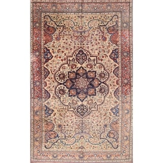 "Antique Oriental Tabriz Persian Oriental Hand Made Area Rug - 10""3"" x 6'6"""