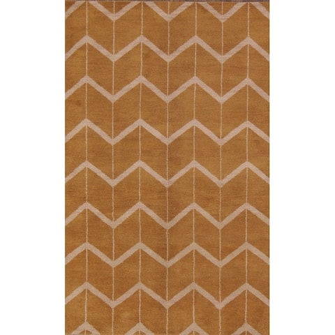 """Traditional Hand Made Moroccan Oushak Oriental Geometric Area Rug - 7'10"""" x 4'11"""""""