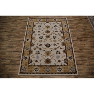 "Oushak Agra Indian Oriental Floral Area Rug Hand Made Wool Carpet - 8'0"" x 11'0"""