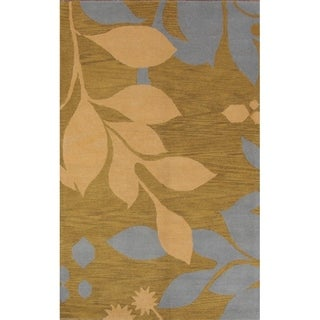 """Link to Oushak Agra Traditional Hand Made Floral Oriental Area Rug - 7'10"""" x 4'11"""" Similar Items in Transitional Rugs"""