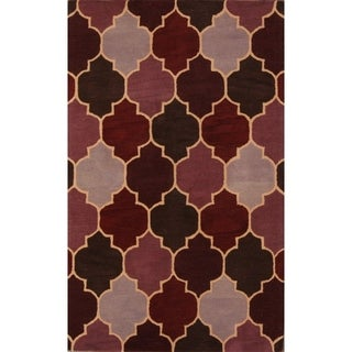 """Link to Agra Floral Hand Tufted Wool Traditional Oushak Oriental Area Rug - 7'10"""" x 4'11"""" Similar Items in Transitional Rugs"""