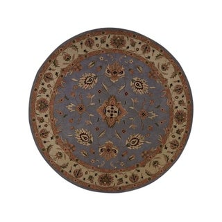 "Gracewood Hollow Mattawa Tufted Blend Traditional Kashan Rug - 10'0"" round"
