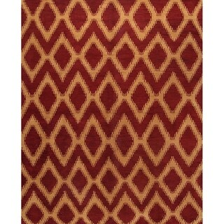 """Strick & Bolton Marley Moroccan Hand-knotted Wool Area Rug - 8'0"""" x 9'10"""""""