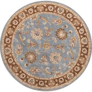 "Oushak Agra Handmade Oriental Area Rug Floral Carpet - 10'0"" round"