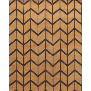 "Trellis Oriental Moroccan Area Rug Handmade Wool Carpet - 8'0"" x 10'0"""