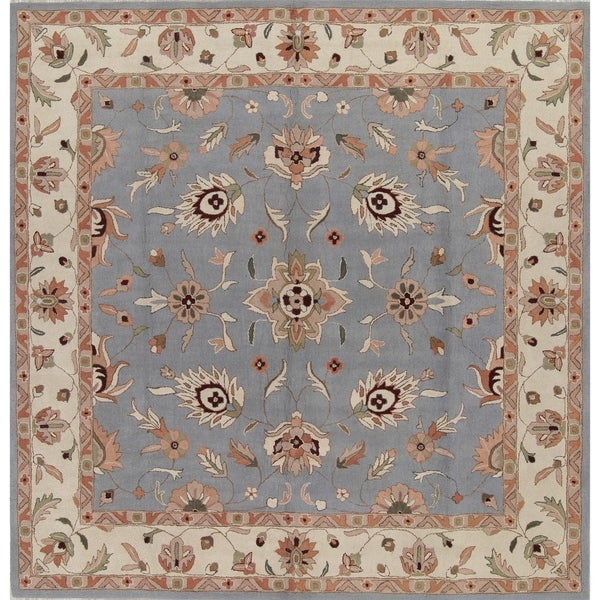 Shop Oushak Agra Indian Oriental Hand Tufted Wool Floral Area Rug