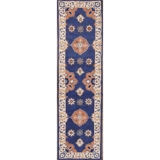Copper Grove Oroklini Handmade Wool Floral Runner Rug - 9'6 x 2'7