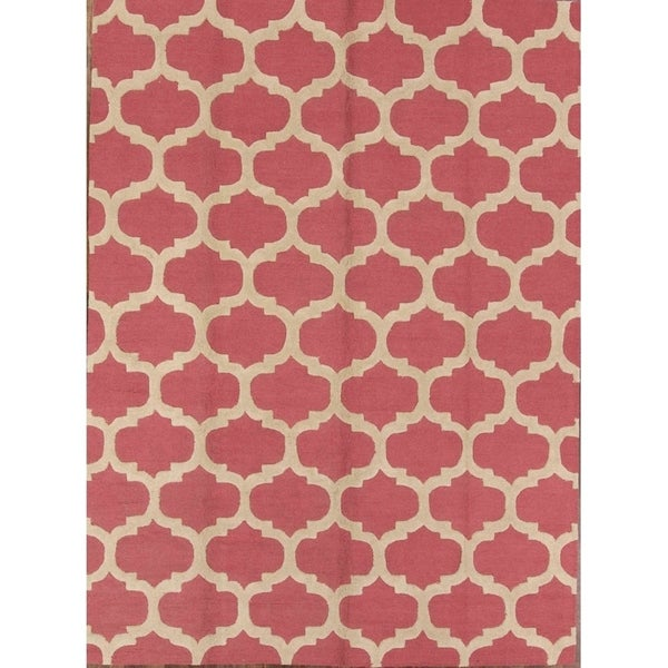 """Copper Grove Gistrup Moroccan Trellis Gabbeh Wool Hand Knotted Oriental Area Rug - 9'0"""" x 12'0"""""""