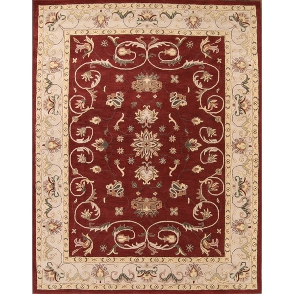"""Copper Grove Pachna Classical Agra Traditional Oushak Hand Tufted Oriental Area Rug Red - 12'9"""" x 9'9"""""""