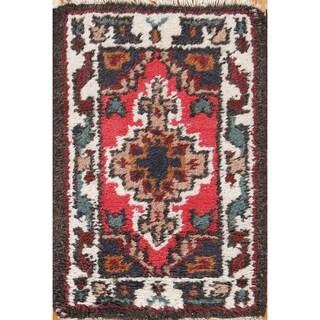"Oriental Indo Hand Knotted Wool Heriz Indian Oriental Rug - 2'1"" x 1'5"""