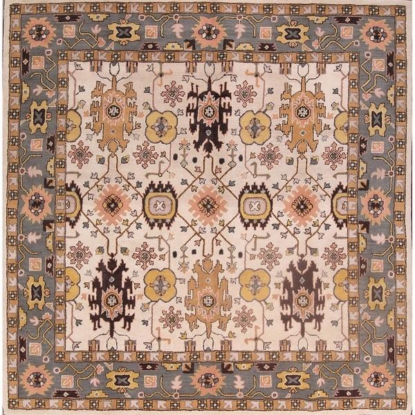 "Gracewood Hollow Dila Handmade Floral Area Rug - 10'3"" x 10'0"" square"