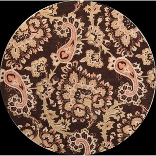 Copper Grove Kouklia All-over Floral Oushak Agra Hand Tufted Oriental Paisley Area Rug - 8' Round