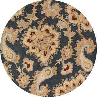Copper Grove Horuphav Paisley Oushak Handmade Oriental Paisley Area Rug - 8' Round