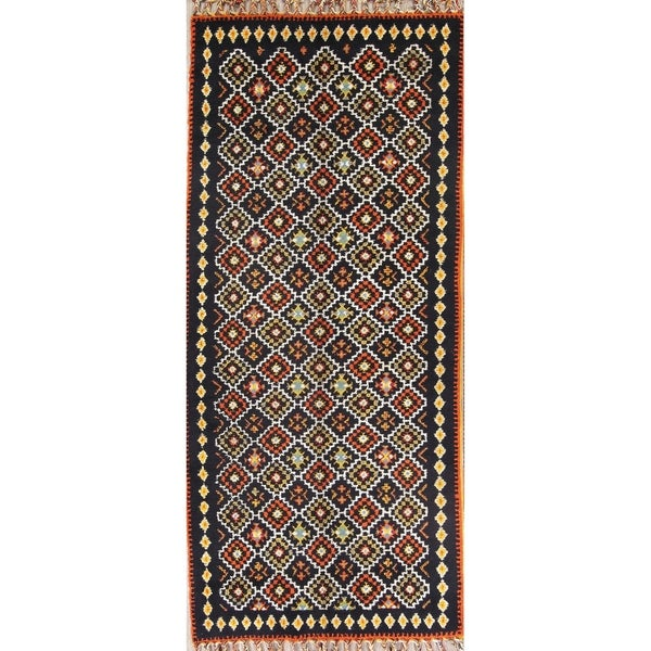 """Moroccan Hand Knotted Traditional Oriental Area Rug - 14'4"""" x 6'4"""" runner"""