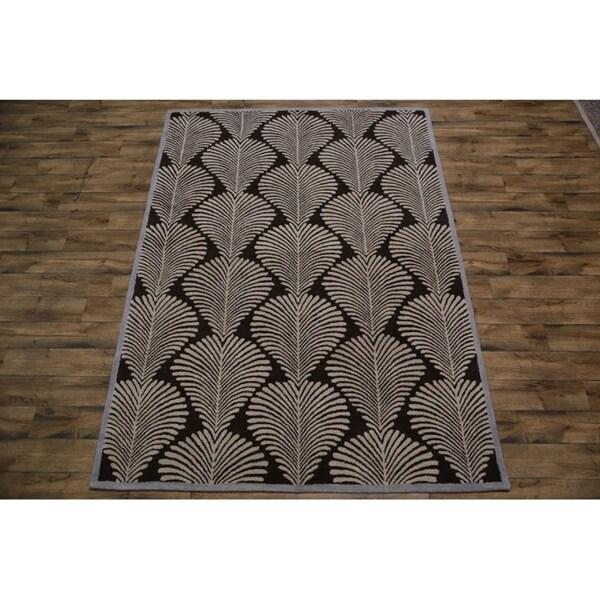 Strick & Bolton Sondre Tribal Hand-tufted Wool Area Rug - 8' X 11'