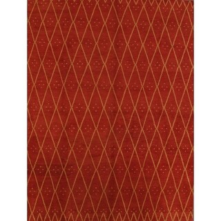 "Copper Grove Decin Handmade Moroccan Traditional Trellis Gabbeh Oriental Area Rug Red - 13'1"" x 9'10"""