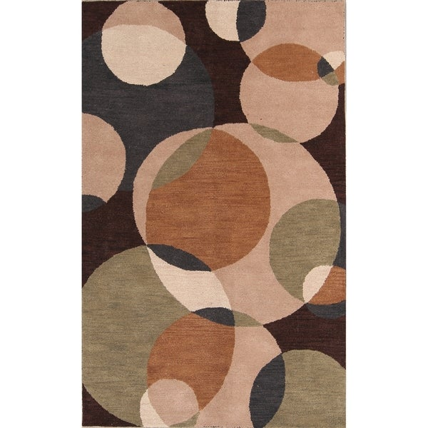 Shop Oushak Indian Hand Tufted Wool Oriental Area Rug 8 0 X 5 0