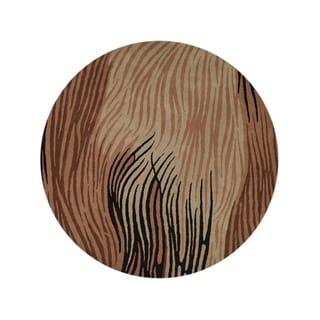 "Porch & Den Waldron Hand-made Floral Wool Oushak Oriental Area Rug - 10'0"" round"