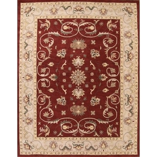 """Gracewood Hollow Myrny Hand-tufted Red Area Rug - 9'8"""" x 13'0"""""""