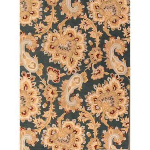 Copper Grove Kajaani Pailey Handmade Wool Area Rug - 8' x 11'