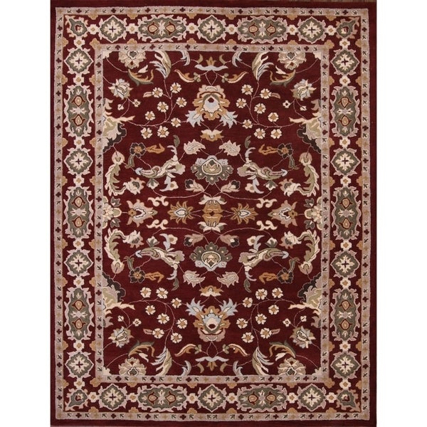 "Copper Grove Borkop Hand Made Wool Traditional Medallion Oriental Area Rug - 9'11"" square"