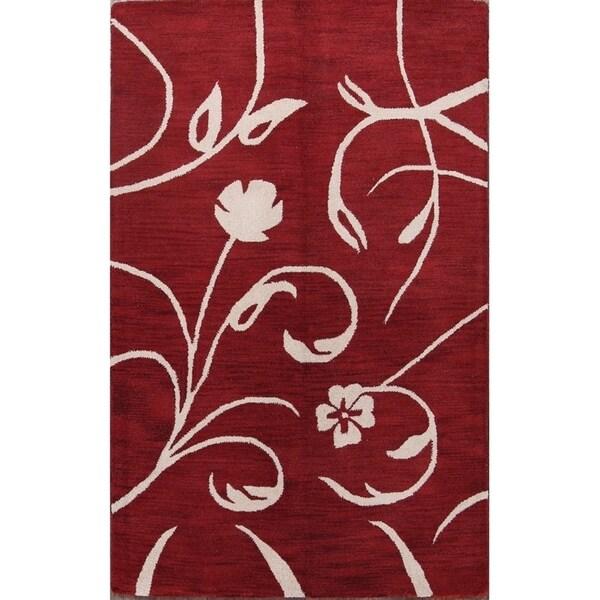 "Porch & Den Winworth Hand-tufted Floral Oriental Area Rug - 7'11"" x 5'0"