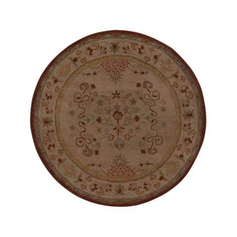 Handmade Wool Oushak Ara Oriental Floral Rug