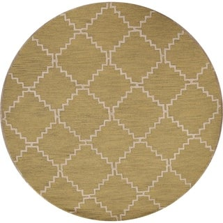 Moroccan Trellis Hand Tufted Oriental Modern Area Rug - 8' Round
