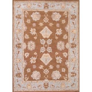 "Oushak Agra Oriental Hand Tufted Floral Area Rug - 11'1"" x 8'1"""