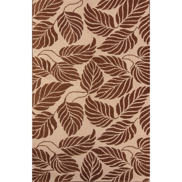 """Oushak Traditional Agra Oriental Hand Made Floral Area Rug - 7'10"""" x 4'11"""". Opens flyout."""