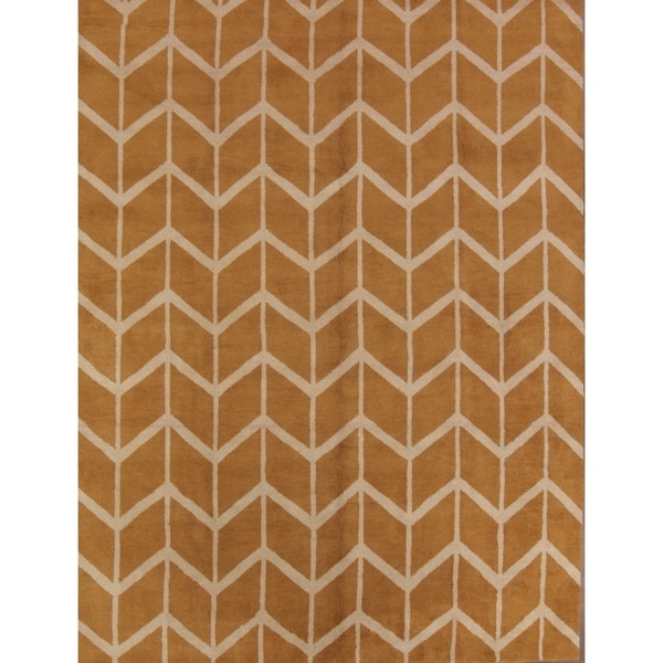 Moroccan Trellis Gabbeh Hand Knotted Oriental Modern Area Rug - 9' x 12'