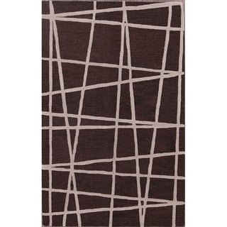 """Link to Dark Brown Traditional Hand Made Oushak Oriental Area Rug - 8'0"""" x 5'1"""" Similar Items in Transitional Rugs"""