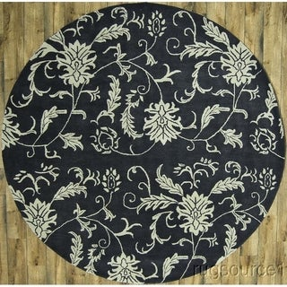 "Classical Handmade Oushak Traditional Oriental Floral Area Rug Blue - 10'0"" round"