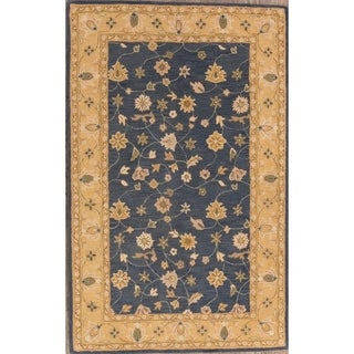 "Traditional Oushak Oriental Hand Made Floral Area Rug Blue - 5'0"" x 8'0"""