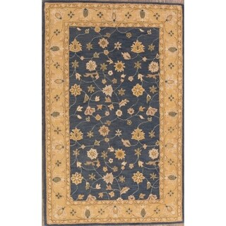 """Traditional Oushak Oriental Hand Made Floral Area Rug Blue - 5'0"""" x 8'0"""""""