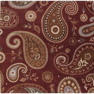 """Hand Tufted Oushak Agra Indian Oriental Floral Paisley Area Rug - 12'1"""" round"""