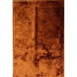 "Porch & Den Chadwick Orange Hand-tufted Eastern Shag Area Rug - 7'8"" x 5'2"""