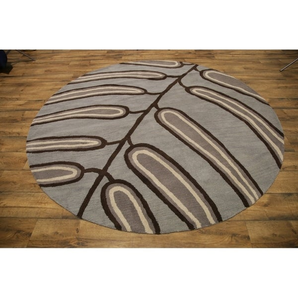 Traditional Tribal Oushak Indian Oriental Area Rug - 8' Round