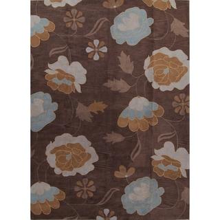 "Copper Grove Naestved Handmade Woolen Oushak Agra Traditional Oriental Brown Area Rug Brown - 15'9"" x 11'5"""