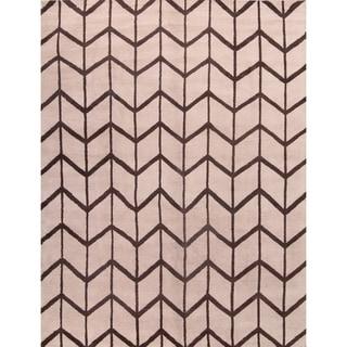 "Moroccan Trellis Oriental Handmade Wool Modern Area Rug - 12'0"" x 9'0"""