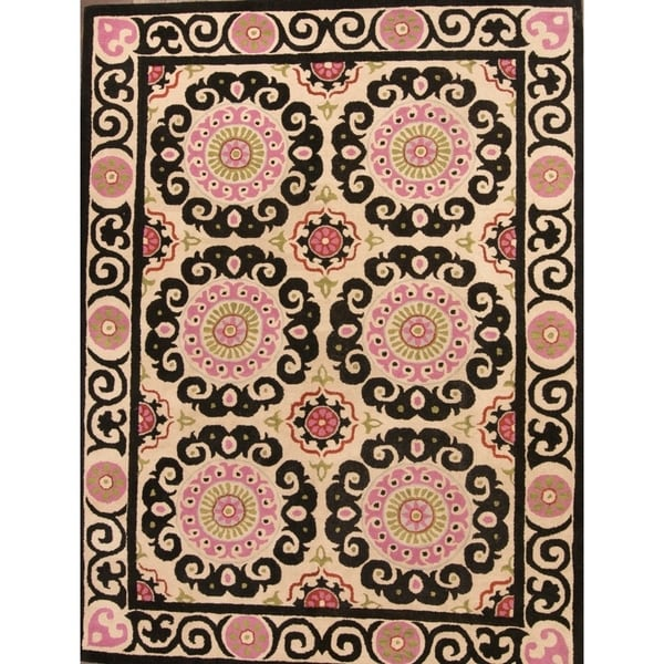 Hand Tufted Woolen Traditional Agra Oushak Oriental Floral Area Rug - 12' x 9'