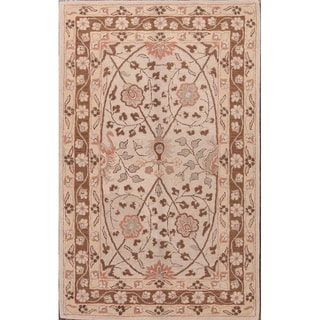 """Agra Hand Tufted Oriental Floral Area Rug Classical Beige - 8'0"""" x 5'0"""""""