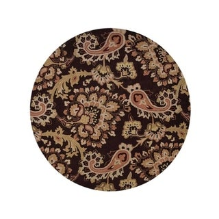 "Copper Grove Nykobing Hand-tufted Wool Traditional Oriental Paisley Area Rug - 10'0"" round"