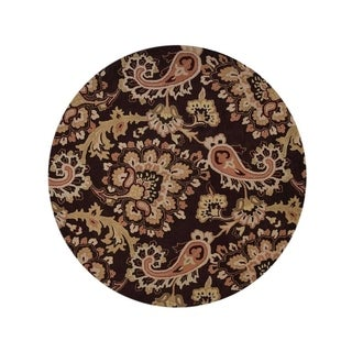 """Copper Grove Nykobing Hand-tufted Wool Traditional Oriental Paisley Area Rug - 10'0"""" round"""
