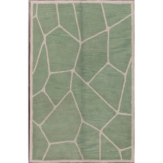 """Gabbeh Indian Traditional Hand Made Oriental Area Rug - 8'0"""" x 5'0"""""""